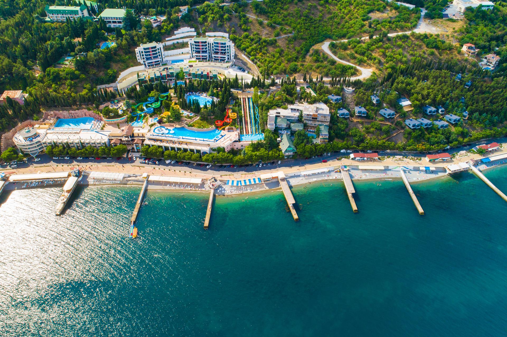 Бассейн в Аквапарк, Крым